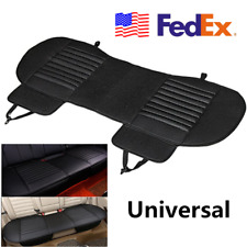 USA Universal Black PU Leather Car Rear Seat Cover Cushion Protector Dog Pet Mat