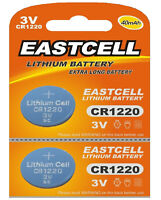 2 x CR1220 3V Lithium Knopfzelle 40 mAh ( 1 Blistercard a 2 Batterien)EASTCELL