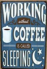 COFFEE BAR Rustic Look Vintage Tin Metal Sign Man Cave, Shed-Garage & Bar Sign