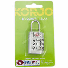 KORJO Travel Luggage Lock TSA Compliant Lock with Indicator Silver TSA72