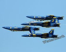 Photograph US Navy F18 Blue Angels Aircraft in Formation 11x14