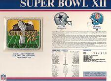 1978 SUPER BOWL XII SB 12 PATCH DALLAS COWBOYS DENVER BRONCOS WILLABEE WARD