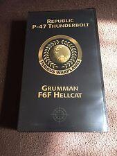 VHS Tape (Famous Warplanes) Republic P-47 Thunderbolt and Grumman F6F Hellcat