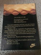 Vintage 1979 NIKE TAILWIND RUNNING CAMPAIGN Poster Print Ad *1ST EVER NIKE AIR*