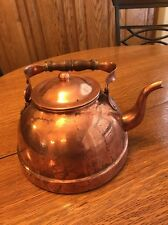 Copper Tea / Water Pot Kettle Tagus R-53 Gooseneck Spout Wood Handle