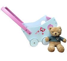 Puppenwagen Lauflernwagen Lauflernhilfe Holz Baby Walker Plüschtier Bär Teddybär