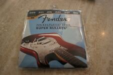 New Fender Plain Steel Bullet End & Acoustic Electric Mixed Guitar String 6 Pcs.