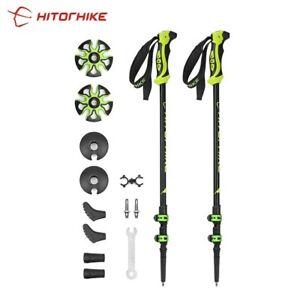 Hitorhike Pair/2pcs 7075 Trekking Poles Nordic Walking Poles 7075 Trekking Stick