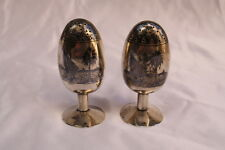 MAGNIFICENT 1900 HAND MADE  PERSIAN 84 CONTINENTAL SILVER SALT & PEPPER SHAKER