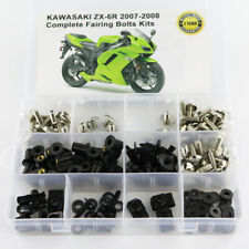Motorcycle Fairing Bolts Kit Screws For Kawasaki ZX 6R ZX 6RR 2007 2008 Silver