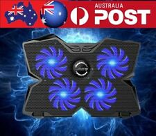 """4 Fans Notebook Laptop Cooling Pad Stand Cooler for 14""""15""""17"""" Laptop Blue"""