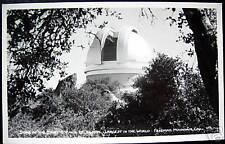 Palomar Mountain CA~1940's DOME OF GIANT TELESCOPE~RPPC