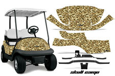 Club Car Precedent Golf Cart Graphic Kit Wrap Parts AMR Racing Decals SKULL CAMO