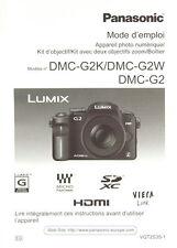 Panasonic DMC-G2K/DMC-G2W/DMC-G2 Mode d'emploi français Anleitung manual - 0632