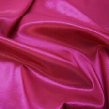 Plain Cerise Pink Silky Taffeta Fabric Weddings (Per Metre)
