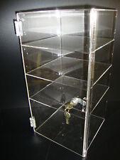 "Acrylic Countertop Display Case 9 1/2"" x 9 1/2"" x 19"" Locking Security Show Case"