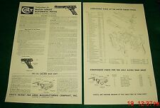 Colt Match Target Manual  Assembly Disassembly Cleaning & Component Parts
