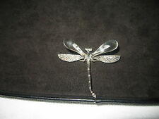 Sterling Silver 925 Dragonfly Brooch Pin
