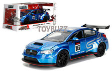 JADA 1:24 JDM TUNER IMPORT NISSAN SUBARU WRX STi WIDE BODY CANDY BLUE 99089 NEW