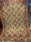 5X7 FT Handmade vintage Uzbek Maimana Vegetable Dye Natural Colors Wool Kellim