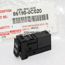 NEW OEM TOYOTA Tundra Tacoma Rav4 Corolla USB AUX STEREO JACK ADAPTOR 861900C020