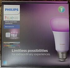 Philips Hue Kit with 3 White and Color Smart LED Bulbs and Hue Bridge