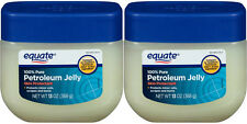 2 Equate 100% Pure Petroleum Jelly Skin Protectant  Moisturizer 13 oz  Each