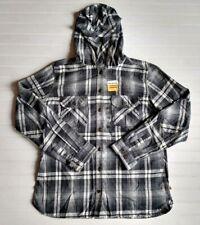 NEW Carhartt Women's M 8-10 Plaid Long Sleeve Button Up Hooded Flannel Shirt