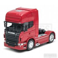 Welly Truck Cab 1/32 Scale Diecast Volvo FH12 Scania V8 R730 White Red Blue