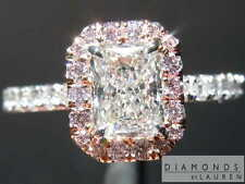 .72ct H SI1 Radiant Cut Pink Diamond Halo Ring GIA R6896 Diamonds By Lauren