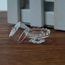 Puppenhaus Miniatur Glas Transparent Dessert Pot Plate Jar stand spaß 1:12