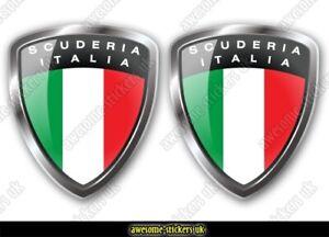 2 x ITALIAN flag stickers 029 Fiat 500 decals vinyl graphics Scuderia Italia