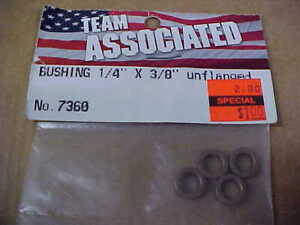 """TEAM ASSOCIATED 7360 = BRASS BUSHINGS - 1/4"""" X 3/8"""" UNFLANGED  (NEW)"""