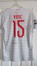 Signed NEMANJA VIDIC Inter Milan 2014/15 Away Shirt w/ Exact Proof