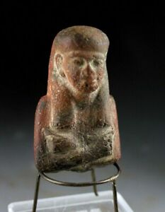 *SC* FINE EGYPT CERAMIC SCULPTURE OF OSIRIS, PTOLEMAIC PERIOD