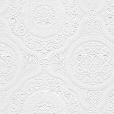 Spanish Architectural Ceiling Tile Raised Textured Paintable Wallpaper 48932