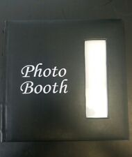 Photo Booth Scrapbook, 9 x 8.5 Black leatherette album 50 White pages