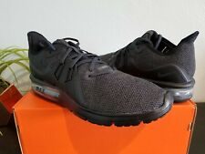 info for 9c766 56a17 New in Box Mens Nike Air Max Sequent 3 Running Shoes Black Gray 14 924694-