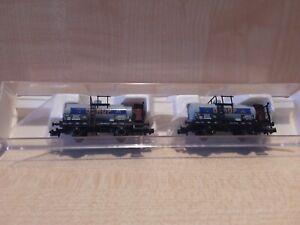 """WN310) Fleischmann 843701 Kesselwagen 2er Set -  """"DEROP"""" - DB - OVP"""