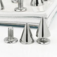 12pcs Legierung 10mm Kegel Nieten Silber Farbe DIY für Schuhe Tasche Gürt RHH