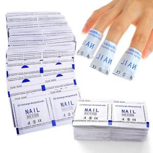 Soak Off UV Gel Polish Nail Foil Remover Wraps 25,50,100