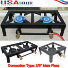 Portable Camp Stove Cast Iron Burner Propane Gas LPG Outdoor BBQ Grill Cooker US photo