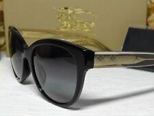 4d5e5544698e BURBERRY B 4187F Black   Transparent   Gold Frame Sunglasses 54 19 140