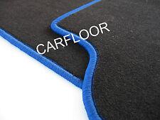 Für Ford S-Max Bj. 05.06-12.12 Fußmatten Velours schwarz Rand königsblau