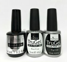 EZFlow TruGel Nail Gel polish-  Bond- It- On , Base, Top Coat 0.5oz/14ml