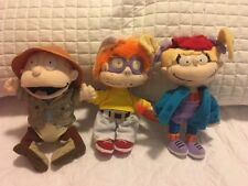 1998 Nickelodeon Viacom Tommy, Angelica, Chuckie Plush Dolls