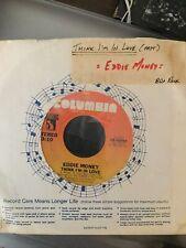 """Eddie Money 45 """"Think I'm In Love/Drivin' Me Crazy� 1982 Pop Rock Vinyl"""
