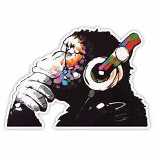 Banksy Thinker Monkey Headphones Design - Wall Art Graffiti Vinyl Sticker ...