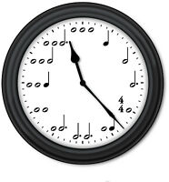 Music Notes WALL CLOCK - Piano Lessons Teacher Band Orchestra Classroom - GIFT