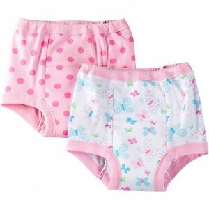 Gerber Girls 2 Pack Training Pants Size 2T Butterfly Dots NEW